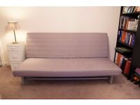 Three-seat sofa-bed/futon (IKEA BEDDINGE LÖVÅS) with free cover - Perfect condition, collection only