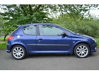 peugeot 206 gti only 1 lady owner from new with full service history and every old invoice and mot..