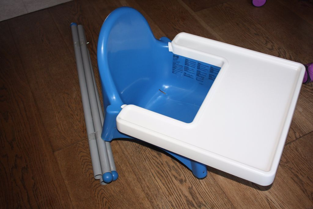 reduced price ikea antilop high chair ex condn blue seat white tray grey legs in dunbar. Black Bedroom Furniture Sets. Home Design Ideas