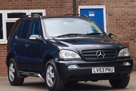 2004 MERCEDES ML270 CDI AUTO BLACK, 12 months mot, warranted, 7 seater
