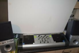 DJ 2 CD MIXING DECK AUX IN CAN PLAY IPOD PHONE CAN BE SEEN WORKING