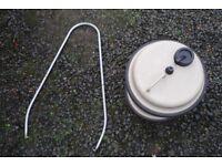 AQUAROLL WITH HANDLE AND WHALE WATERMASTER WATER PUMP FOR CARAVAN / CAMPER ETC. BARGAIN.