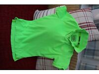 Superdry Lime Green destroyed style T-Shirt Never worn