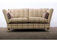 LUXURY TWO SEATER DROP ARM KNOLE SOFA IN STRIPE FABRIC *FREE UK DELIVERY*