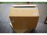 Used cardboard packing boxes