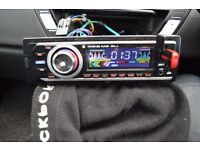 CAR USB/RADIO/SD/AUX IN PLAYER WITH REMOTE/WIRES/CAGE/INSTRUCTION