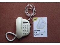 BT Decor 400 landline phone with user guide