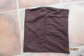 Chocolate Brown Faux suede Cushion Cover. £2, torquay or can post.