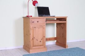 QUALITY MADE SOLID PINE DESK LIGHT IN COLOUR WAXED FINISH - CAN COURIER