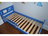 Ikea toddler bed with extras
