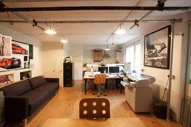 Desk space / studio share in victorian mews workshop.
