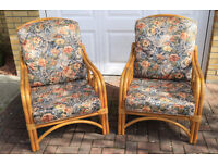 Two conservatory armchairs - Used but in very good and clean condition
