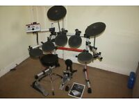 Yamaha DTXPRESS IV Standard Electronic Drum Kit complete with Stool + Headphones and Drum Sticks