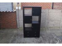 Black Storage Display Unit