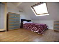 Self Contained Loft room in lovely house with Ensuite + Kitchen. Muswell Hill. All bills inc.