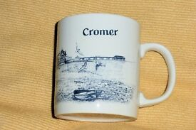 Cromer / Cup with Picture All The Way Round, See Other Photo, Unused Histon