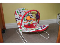 2 baby bouncers: 1 Mamas & Papas Buzz Baby Bouncer, and 1 suitable for bathtime.