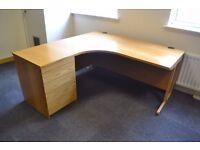 Sturdy Left Hand Return Office Desk & Drawer Unit - £100