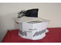 John Lewis black & white Wedding/Mother of the Bride Hat. Bristol