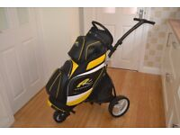 New Powakaddy premium cart bag and Motocaddy S1 lite push trolley