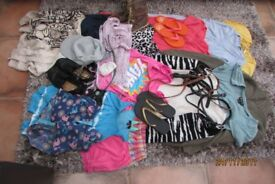 Ladies/Girls Bundle of clothes, Size 10-12. Over 20 items. Includes H & M, Next etc. VGC. £17. Torqu