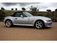 BMW Z3, 1999, 93739 miles, Silver, MOT'd to July 2018, leather,electric,heated seats, electric hood