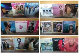 "Huge Collection of 84 Vintage 70's & 80's 12"" Vinyl LP/Records"