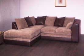 LEFT OR RIGHT AND SIDES- BRAND NEW JUMBO CORD BYRON CORNER / 3+2 SOFA SET