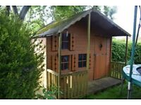 Wooden Playhouse with Upstairs level
