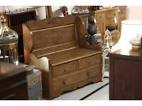Hand Crafted Monks Bench