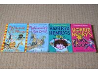 Children's reading books - Winnie the Witch, and Horrid Henry