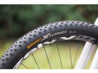 Continental X King PureGrip Bike Tyres (29'' x 2.4) - Barely used