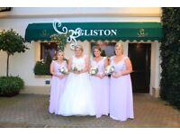 Long Chiffon Lilac Bridesmaid/Prom dress in sizes 8,12,18 & 20