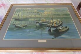 David Shepherd Framed Print of Mevagissey Harbour
