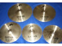 Sabian XS20 Cymbal Set 14in Hi-Hats + 16in Crash + 18in Crash + 20in Ride for Drum Kit