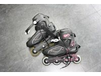 Inline Roller Skates Girls Size UK 6 Very Good Condition
