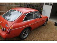 MGB GT 1976 ORGINAL BODYWORK AND PARTS (good restoration project)