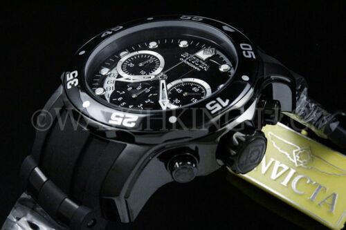 New Invicta Men Scuba Pro Diver Swiss Chrono Gunmetal Black Dial S.S Poly
