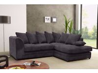 💖💖💖FREE DELIVERY BRAND New Byron Jumbo Cord + Leather Sofa Corner or 3 + 2 Seater