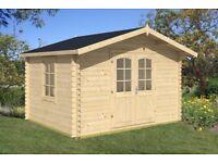 Garden Building in 28mm wood - 3.55m x 2.94m