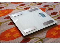 Salter Glass Analyser Bathroom Scales