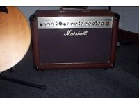 Marshall AS50D acoustic amplfier with cover