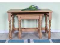 DELIVERY OPTIONS - 2 PINE COFFEE TABLES WAXED LIGHT IN COLOUR