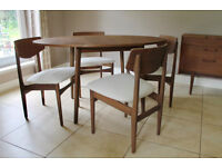 Dining Table and Chairs - Refurbished Mid Century