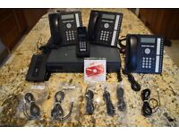 Avaya IP Office 500 v2 phone system & 4 Handsets