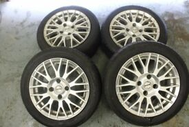 """FOX 15"""" 4X108 ALLOY WHEELS + TYRES FORD CITREON AUDI RRP £400+ WHEEL CLEARANCE"""