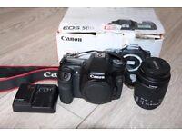 Canon 50D DSLR Camera Boxed Charger Lens Canon 18-55mm STM Lens DSLR Camera