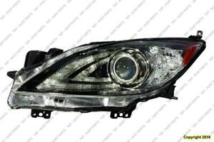 Head Light Driver Side Without Auto Level Control With Drl HID High Quality Mazda 3 2010-2013
