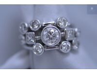 New 18ct White Gold 2.84ct Diamond Cocktail Ring