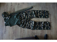 Army Girl Costume Fancy Dress Soldier - womens Halloween costume - size medium
